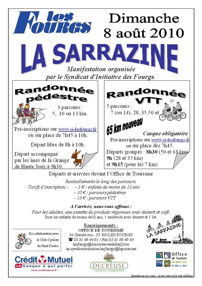 Affiche Sarrazine 2010