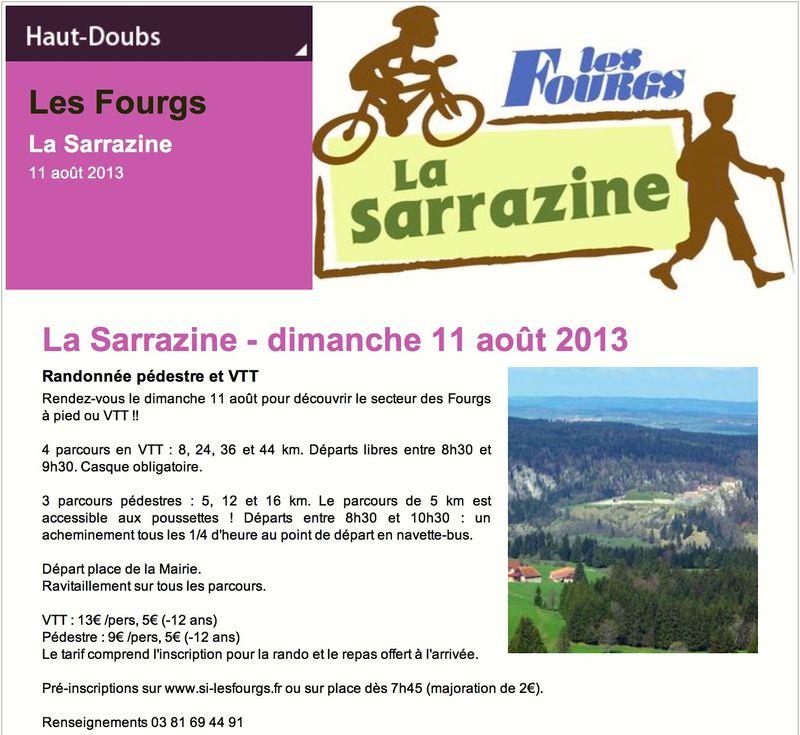 Affiche sarrazine 2013