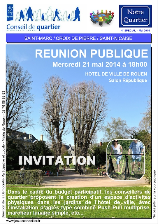 Rouen invitation reunion publique