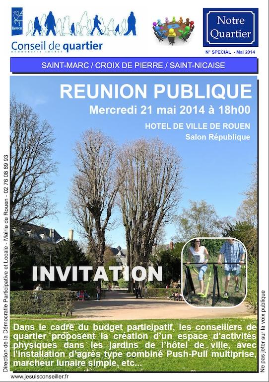 Rouen invitation reunion publique