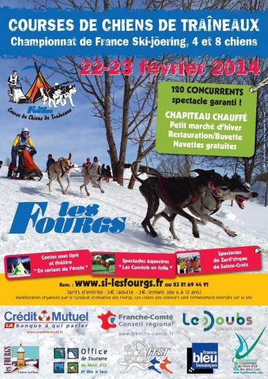 Affiche chiens traineaux 2014