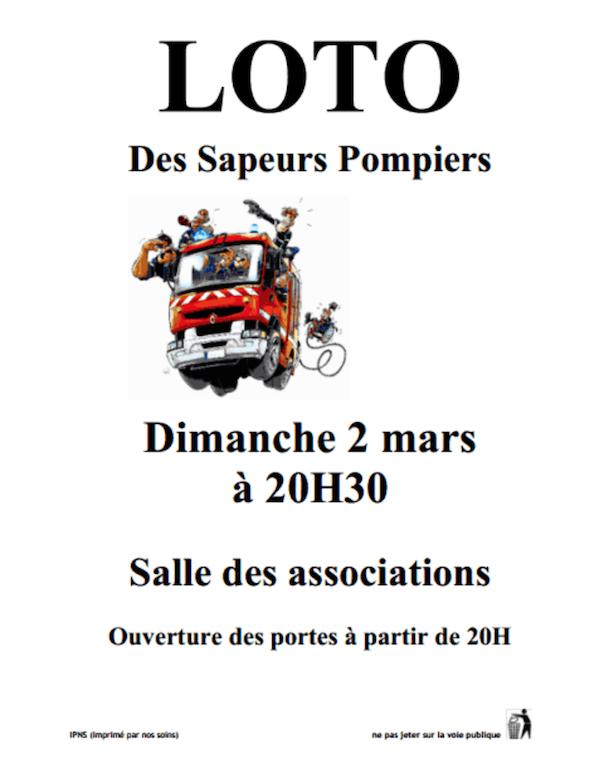 Affiche loto pompier 2014