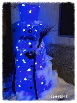 Copie - bonhomme neige bleu