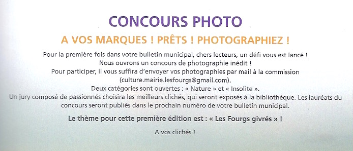 Concours photo - les fourgs