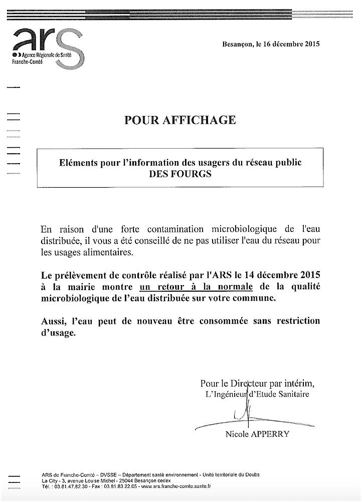 Ars Eau Les Fourgs