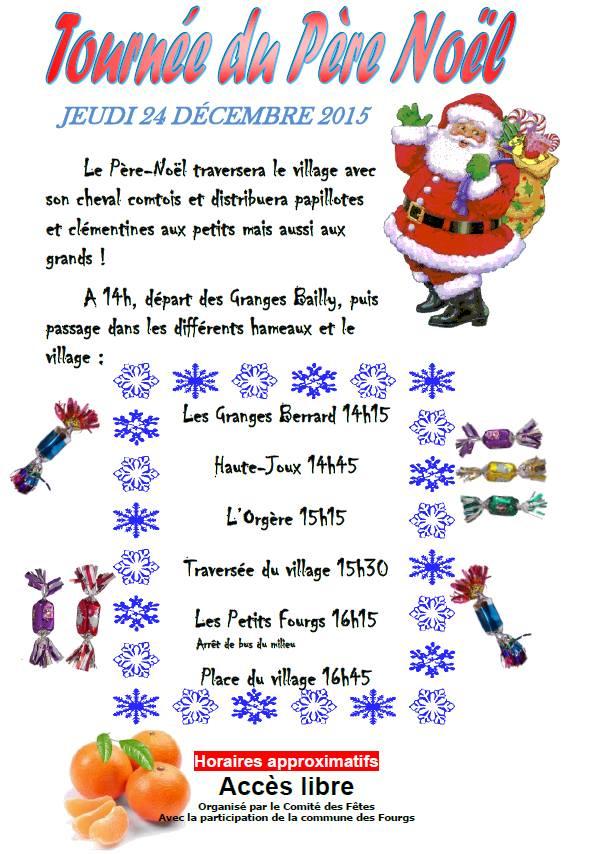 Affiche Père-Noël Les Fourgs
