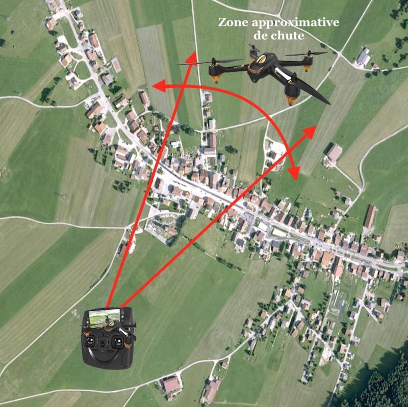 Zone drone perdu