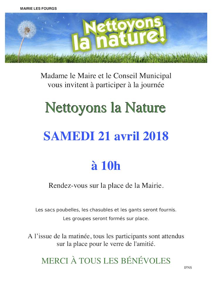 Nettoyons la nature - affiche 2018 copie