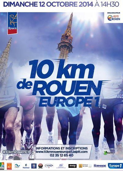 Affiche 10 Km de Rouen