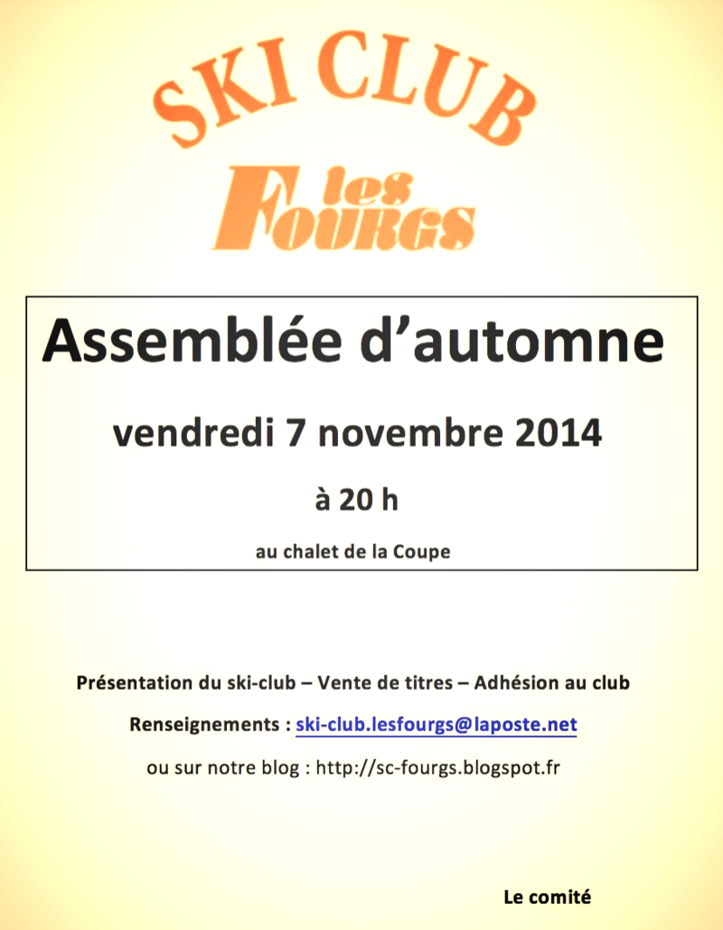 Affiche ski club 2014 - Version 2