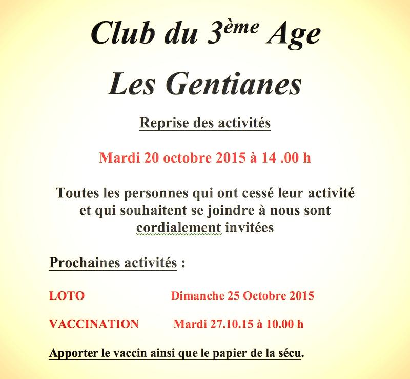 Affiche club 3eme age