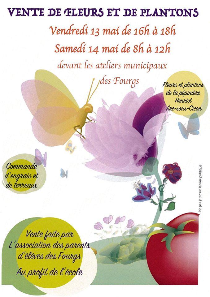 Affiche vente fleurs