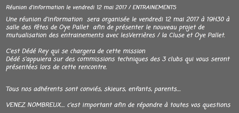 Réunion ski club 2