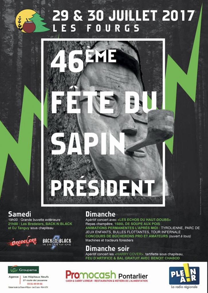 Affiche 46ème Fête Sapin Président 2017