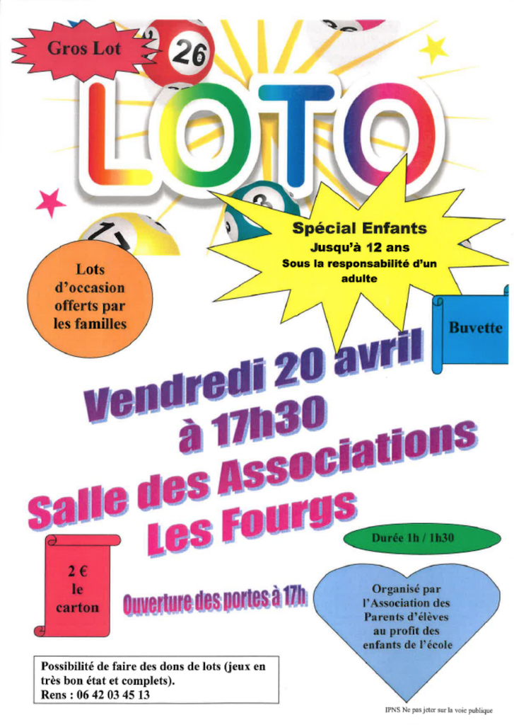 Loto Association Parents Elèves