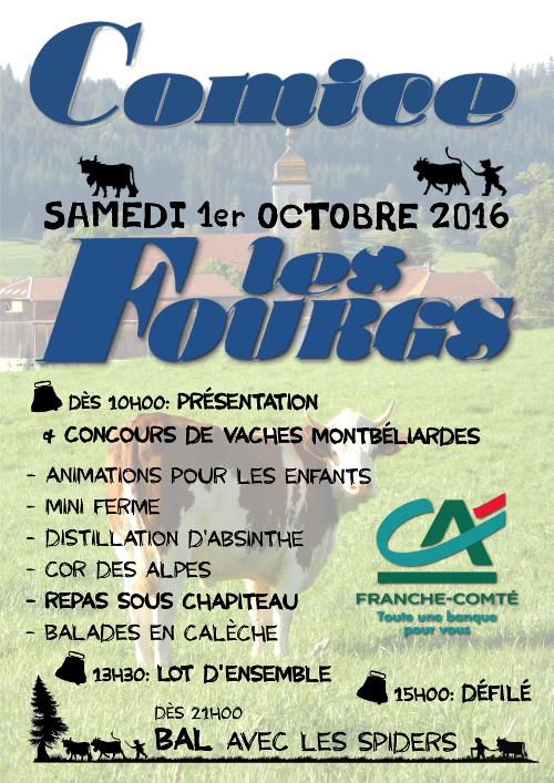 AFFICHE comice Les FOURGS_Dav