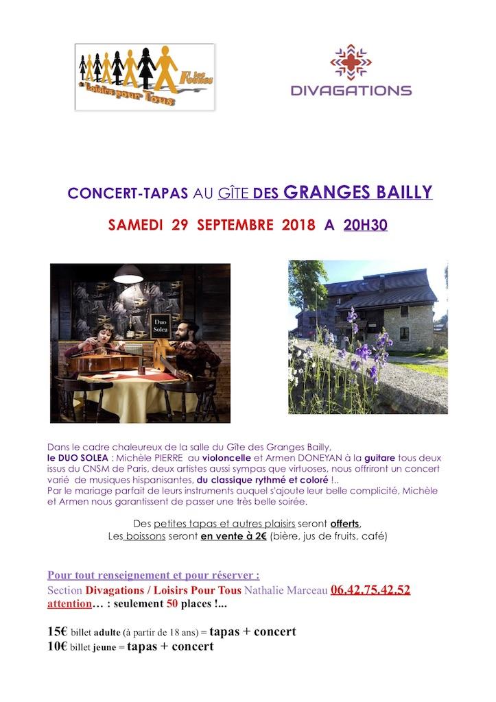 Concert Tapas Les Fourgs NM