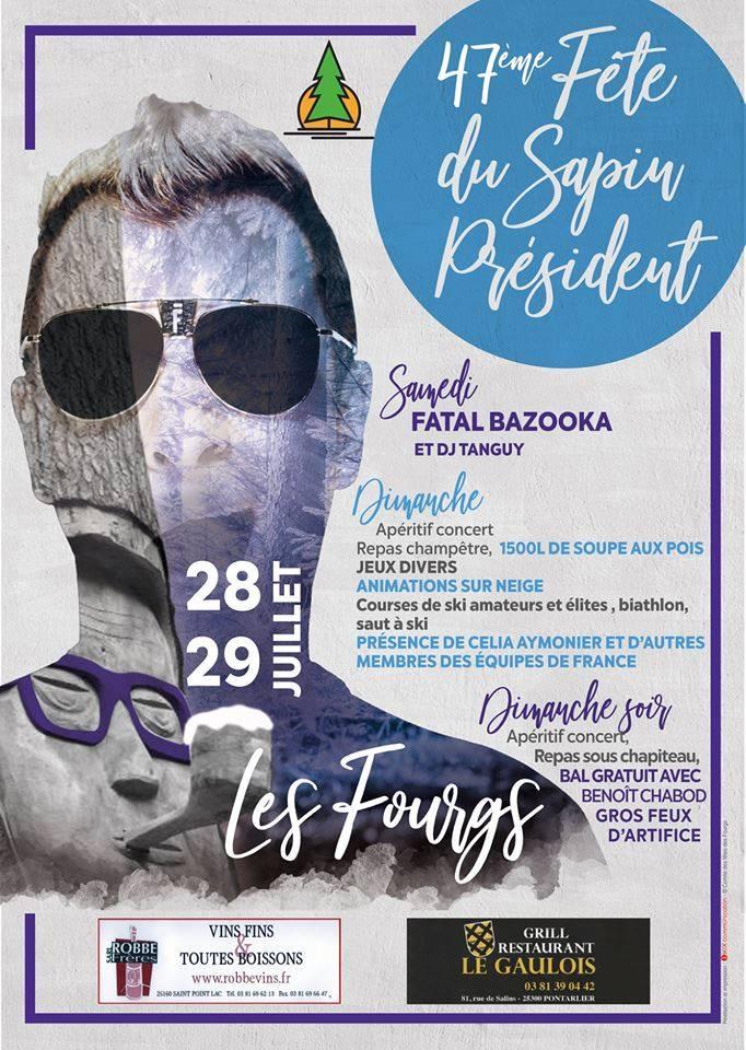 Affiche Fête du Sapin Président 2018 Copie