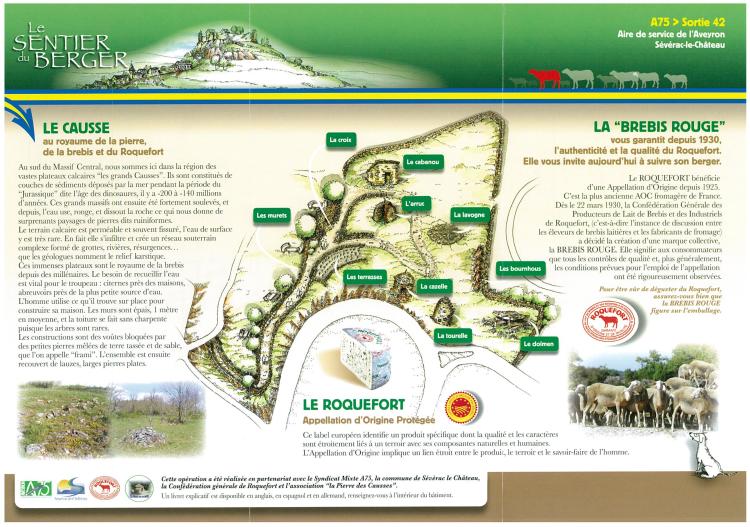 Carte Sentier du berger