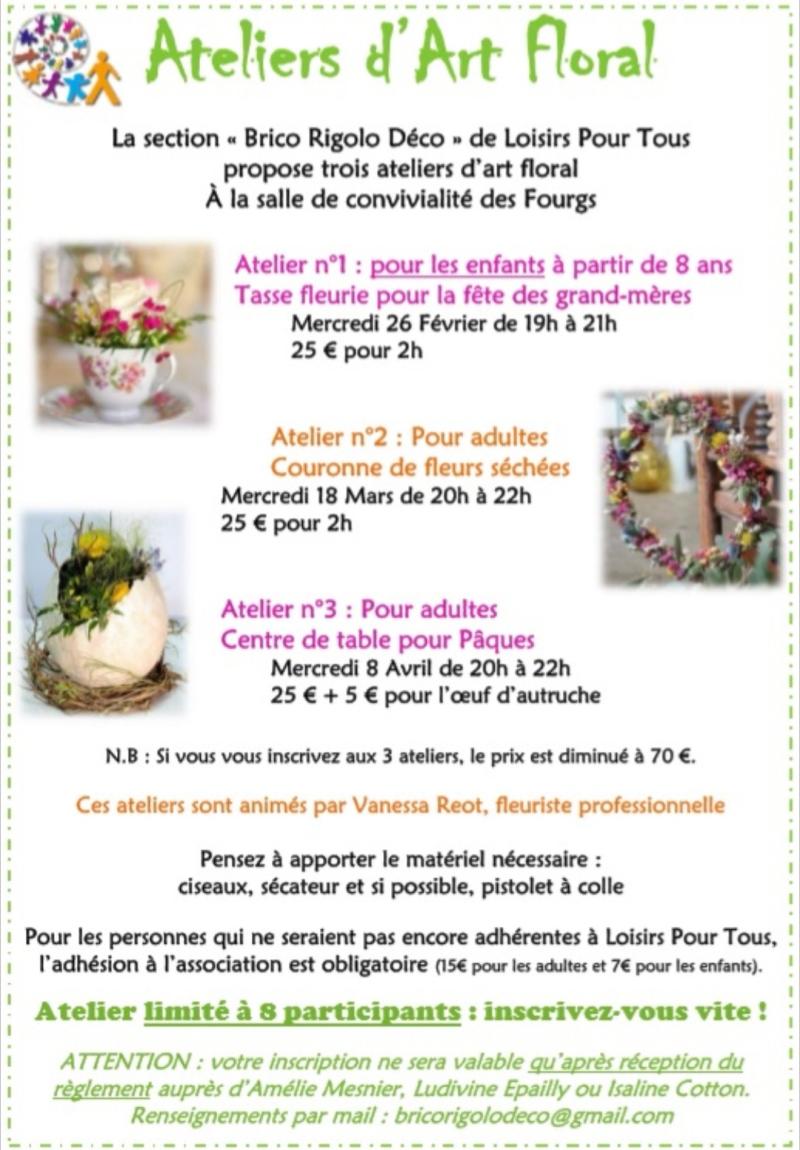 Affiche Atelier Art Floral copie