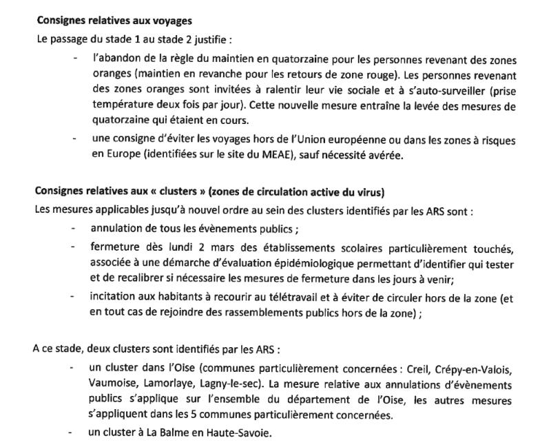 Consignes COVID-19 2