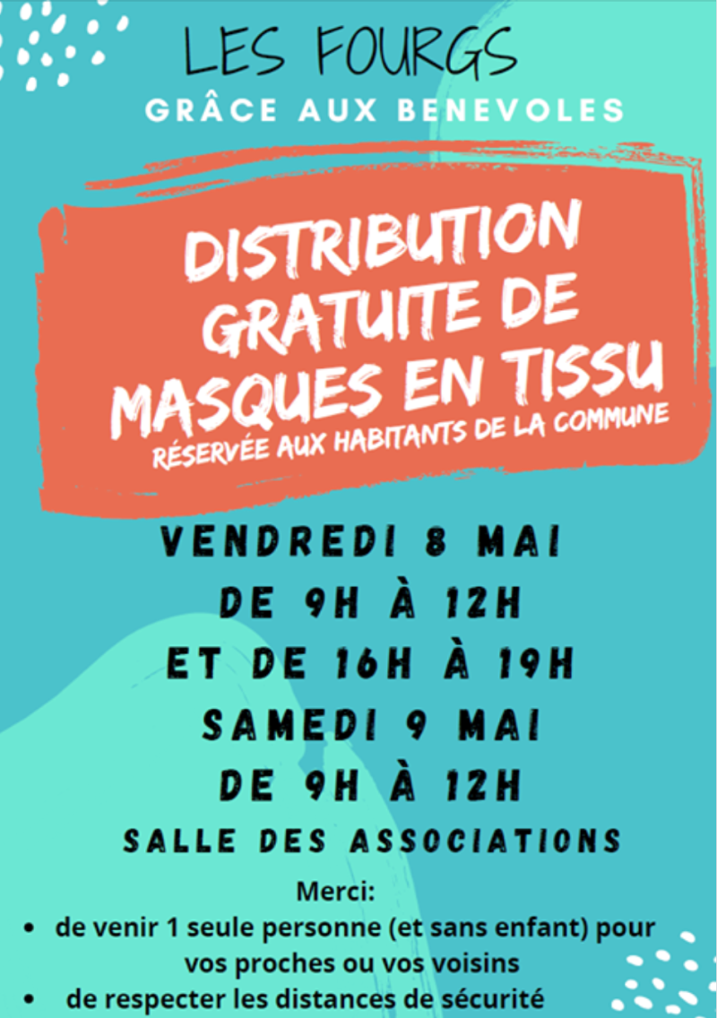 Affiche distribution masques