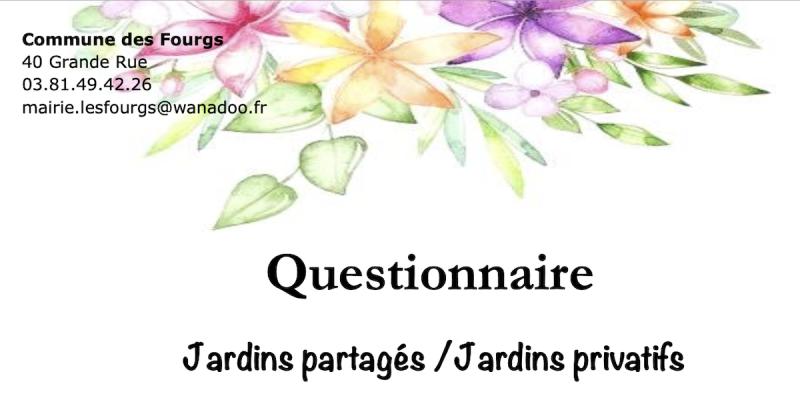 Questionnaire Jardins partagés