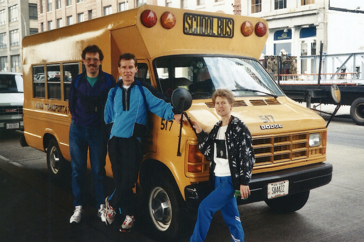 New-York 1990 scool bus CGM