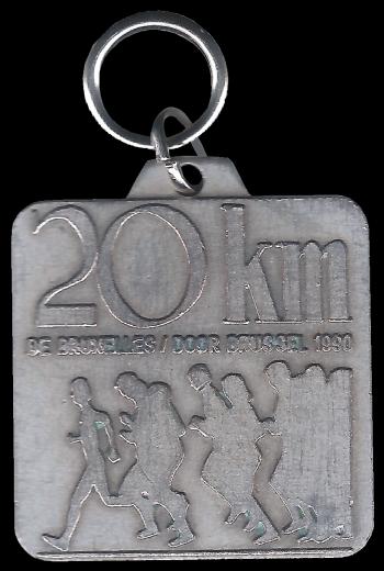 Médaille 20 KM Bruxelles pix