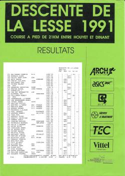 Descente de la Lesse 1991 2 résultats copie